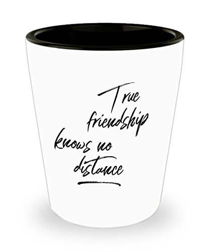 Long Distance Friendship Gifts - Sentimental Gifts for Your Best Friends - For Colleague Leaving Work - Unique for Birthday, Valentines - Shot Glass]()