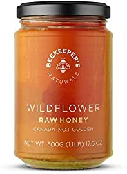 BEEKEEPER'S NATURALS Wildflower Honey - Raw, Wildcrafted, and Unprocessed- Rich in Nutrients and Beneficia