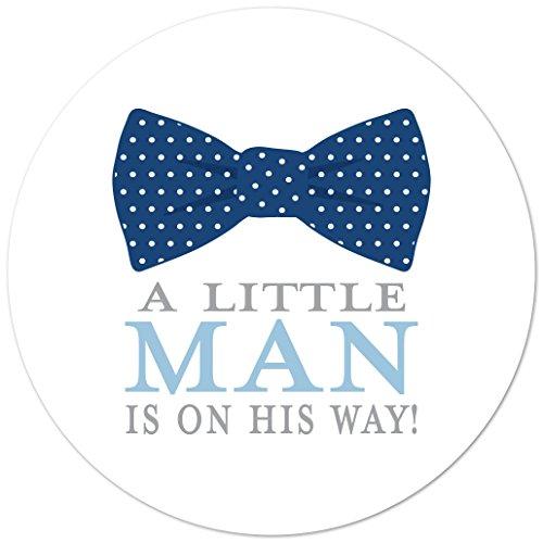 - 40 cnt Little Man Bow Tie Baby Shower Favor Sticker