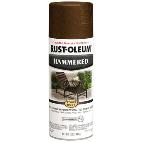 Rust-Oleum 210880 Hammered Metal Finish Spray, Brown, - Brown Metal