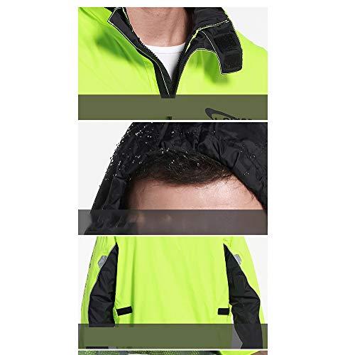 Green impermeabili uomini sottile impostare Pantaloni Dimensione casual pioggia L Color moda moto donne auto Geyao Green e cavallo a elettrica wzaqCx5Sn