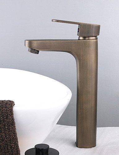 einzigen Handgriff Centerset Waschbecken Wasserhahn Messing antik finish (Gro?)