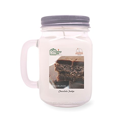 (Country Jar CHOCOLATE FUDGE Handle Candle (14 oz. Mason-Carry Jar) JULY SALE! BUY ANY 2 GET 3RD FREE!)