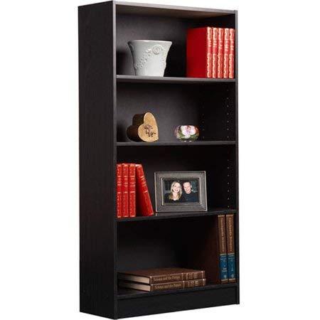 Orion Mylex 4-Shelf Bookcase Black, Set of 1+ Furniture Polish