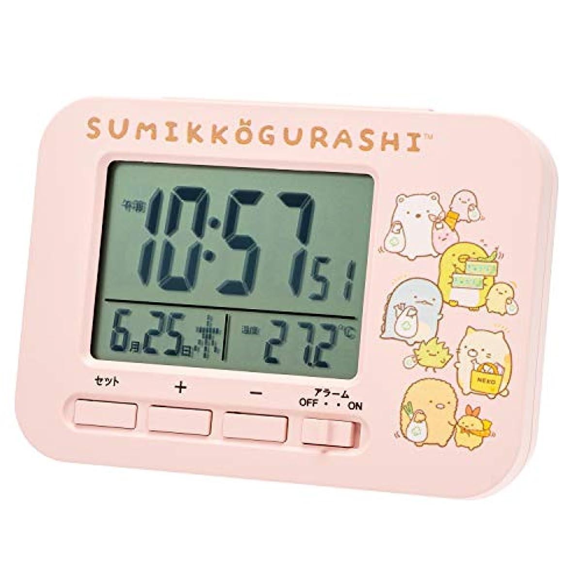 [해외] 스밋코구라시 자명종 전파 시계 AC19048SXSG