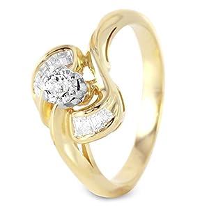 0.45 Carat Natural Diamond 14K Yellow Gold Engagement Ring for Women Size 6