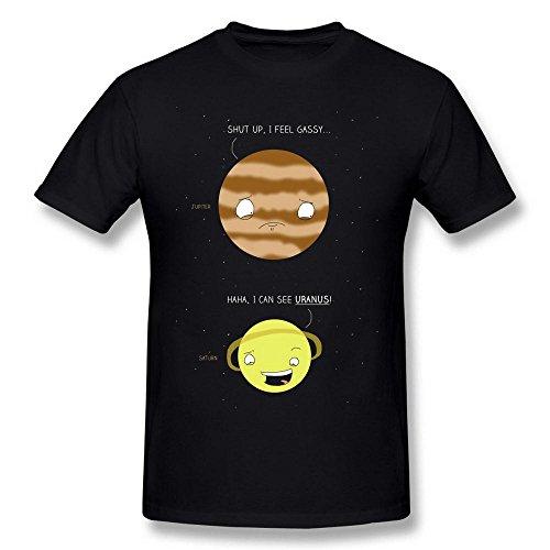 Swarz Men's Jupiter Saturn Talking Shut Up I Feel Gassy Black (Talking Tom Halloween)