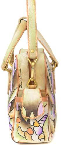 Zimbelmann Ancarolin Umhängetasche aus echtem Nappal-Leder - handbemalt 3Z4g4i