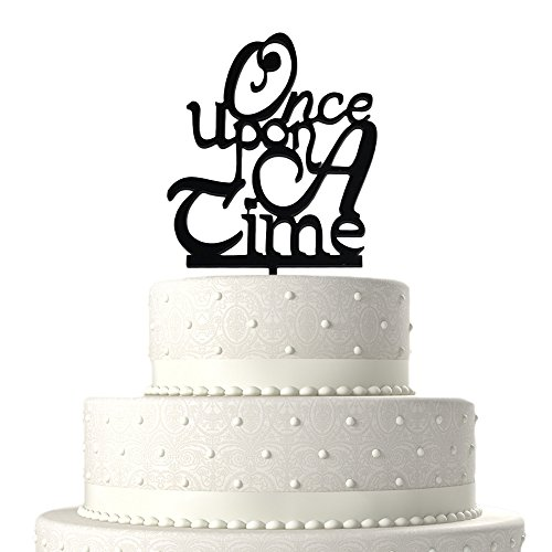 JennyGems Wedding Cake Topper and Anniversary Cake Topper - Fairytale Theme Wedding - Once Upon A Time, Prince and Princess Wedding Theme (The Black Fairy Once Upon A Time)