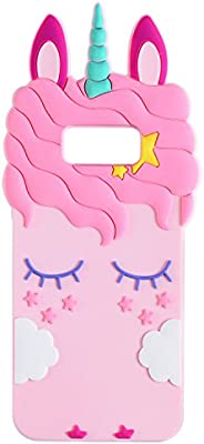 sale retailer 0bbbb 4ba38 Joyleop Pink Unicorn Case for Samsung Galaxy S7 edge Cute 3D Cartoon Animal  Cover,Kids Girls Cool Fun Soft Silicone Gel Rubber Kawaii Character ...