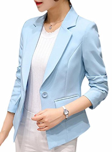 Blazer 1 Womens Jacket Color UK Solid Button today Single Coat Fashion 0vZOw