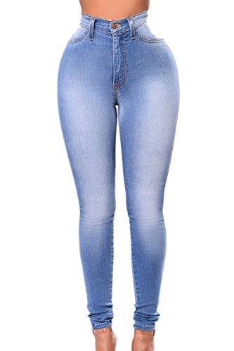 Pantaloni Deepblue Alta Jeans Donne Normali Vita Si Le Slim Elastico Scappando g4Rqww0x