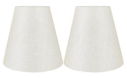 Urbanest Set of 2 Hardback Empire Lamp Shade 5-inch by 9-inch by 8.5-inch, Metallic -
