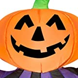 Gemmy Airblown Inflatable 3.5' X 2.5' Pumpkin Clown Halloween Decoration, Model: 72232