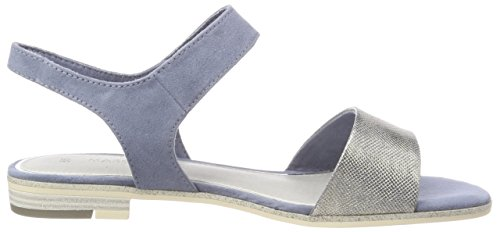 Marco Blue Tozzi Sandal Blue Low Strap Women's Denim Ankle Heel v71rpqvF