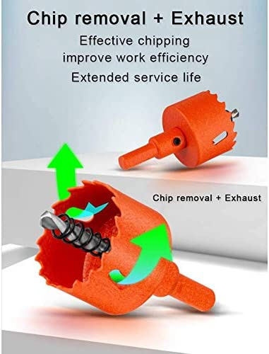keephen Bi-Metal Hole Saw - M42 HSS Holesaw Woodworking Hole Opener Cutter Round Hole Drill Bit for Aluminum Iron Wood Saw Tooth (210MM)