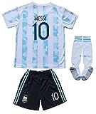 2021 Argentina #10 Leo Messi Home Kids Soccer