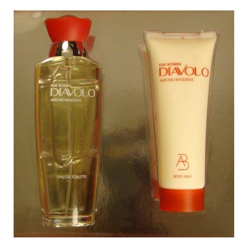 DIAVOLO by Antonio Banderas 3.4 oz EDT Spray 2 Piece NEW Gift Set Box for Women