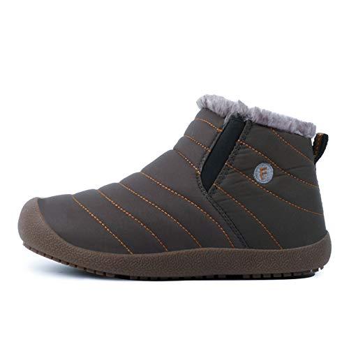 De 35 Calzado Hombre Grandes Botas Para Botines Tobillo Impermeable Unisex La Fhcgmx Nieve Invierno Zapatos Gris Antideslizantes Tallas 48 q7XCf44w