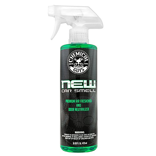 - Chemical Guys AIR_101_16 New Car Smell Premium Air Freshener and Odor Eliminator (16 oz)