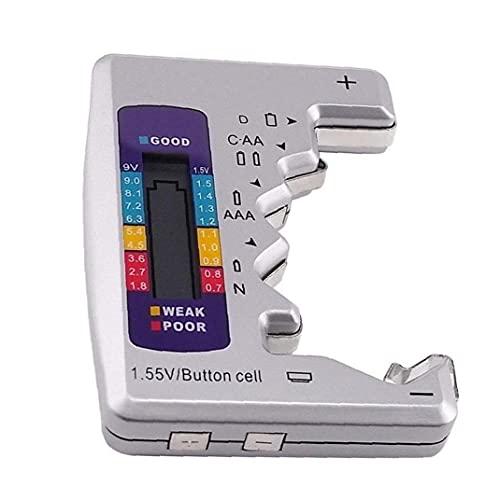 Batterij Tester Multi Purpose Plastic Batterij Niveau Test Tool Met LCD Display Zilver