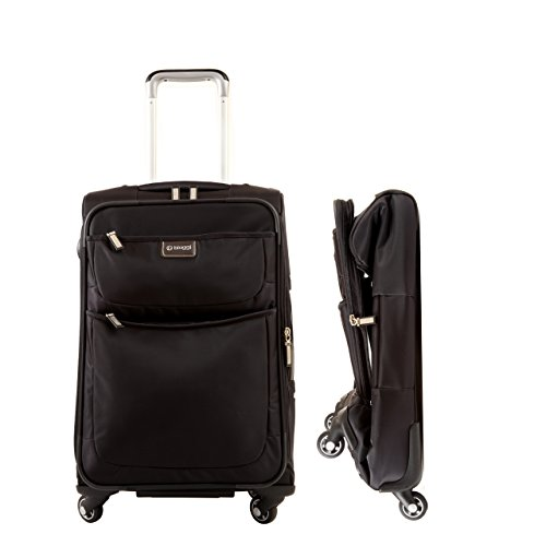 "Price comparison product image Biaggi Contempo Foldable 22"" 4 Wheel Carry-On Black"