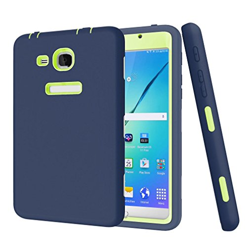 GBSELL Rugged Shockproof Protective Cover Case For Samsung Galaxy Tab A 7 SM-T280 SM-T285 Tablet (Navy)