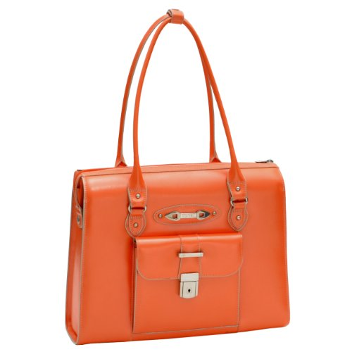 McKleinUSA RIVER FOREST 96500 Orange Leather Ladies' Briefcase by McKleinUSA