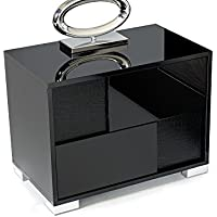 Limari Home Lim-73963 Bartolomeo Left Nightstand, Black