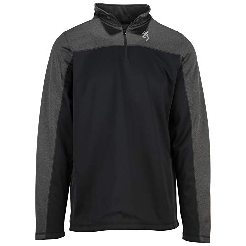 Browning Men's Standard 1/4 Zip, Black, X-Large from Browning