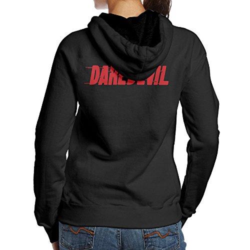 SBPZEB Daredevil Letter Jersey Women's Hoodie M Black