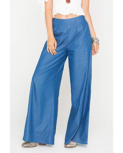Sadie Clothing - Sadie Women's Sage The Label Indigo Untamed Hearts Pants Indigo Large