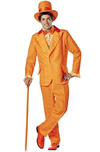 Dumb and Dumber Lloyd Christmas Orange Tuxedo Adult Costume -