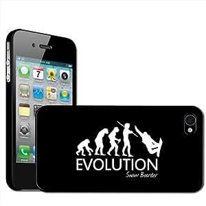 Fancy A Snuggle - Carcasa rígida para iPhone 4 y 4S con diseño de la evolución de un snowboarder