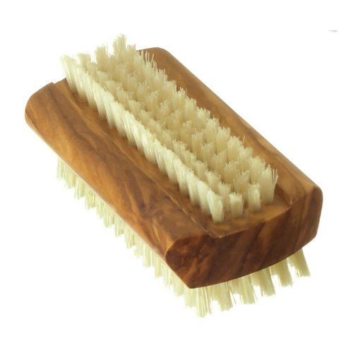 Hydrea London Olive Wood Nail Brush Pure Bristle Large WOL1 Hard Strength B00EB6N8EY