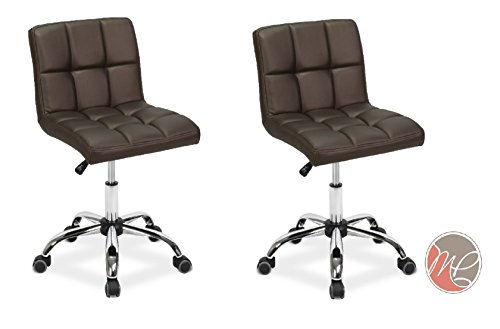 Madison & Park SET OF 2 Easy Glide Office Chair TTO COFFEE Desk Chair Task, Home, or Office Chair Office Furniture - Madison Office Furniture