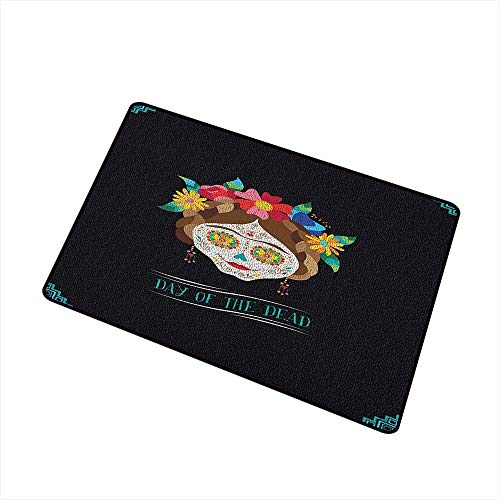Day of The Dead Modern Doormat Hispanic Holiday La Calavera de la Catrina Inspired Hairstyle and Make Up All Season Universal 24