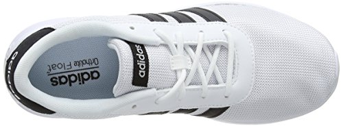 adidas Women's Lite Racer W Fitness Shoes, Black White (Footwear White/Core Black/Footwear White)