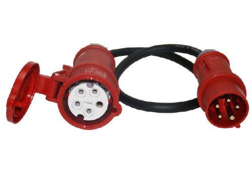 Favorit CEE Adapter Starkstrom 16 A Stecker auf 32 A Kupplung: Amazon.de LR29