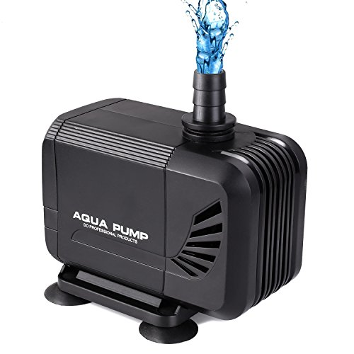 Pedy Water Pump, 400GPH (1500L/H) Submersible Water Pump For Pond, Aquarium, Fish Tank Fountain Water Quiet Pump Hydroponics, 15W by Pedy