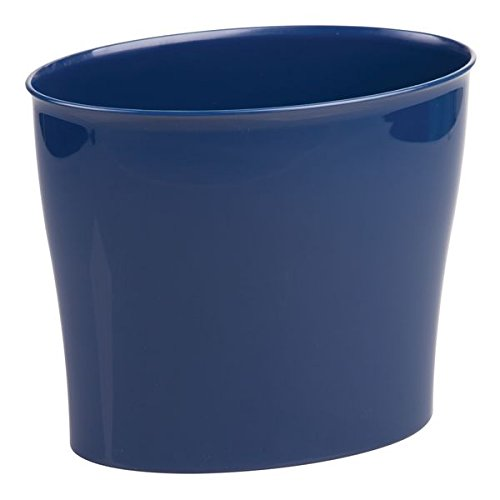 mDesign Wastebasket Bin for Bathroom, Bedroom or Office - Navy MetroDecor