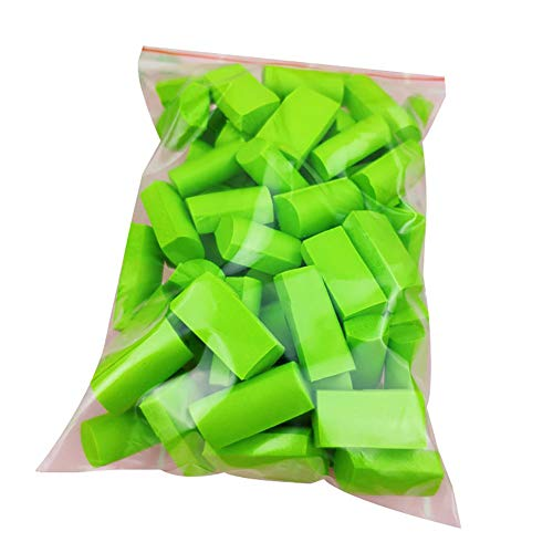 HsgbvictS DIY Toys Creative Toy 15g Slime Blend Foam Strip DIY Kids Toy Fitting Filler Clay Mud Sponge Block Solid Color, Strip Design, Light Weight, DIY Toy, Stress Reliever - Grass Green