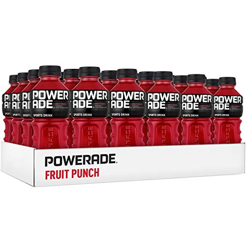 Red Fruit Punch - POWERADE, Electrolyte Enhanced Sports Drinks w/ Vitamins, Fruit Punch, 20 fl oz, 24 Pack