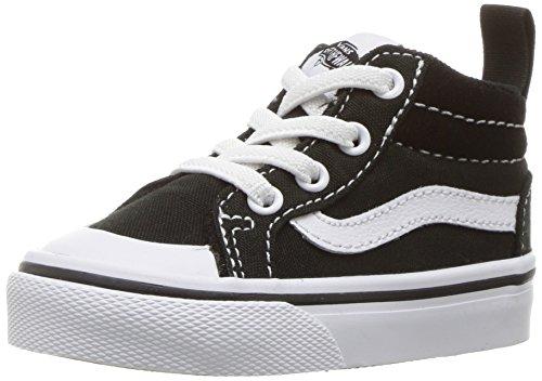 Vans Kinder Schwarz Leinwand / Leinen Racer Mid Sneakers Canvas Black/true White