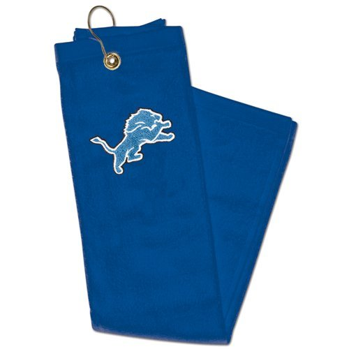 Detroit Lions NFL Golf Towel 15x25 Tri-Fold Sports Football Rag Hook Clip Officially Licensed NFL Merchandise