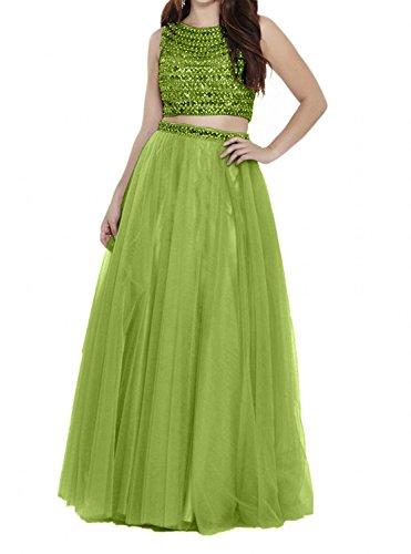 mit Kleider A Charmant Olive Steine Langes Promkleider Linie Abendkleider Gruen Prinzess Damen Jugendweihe Lilac FqSqwzTv