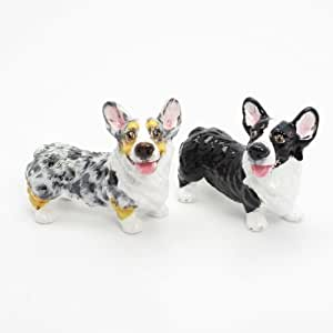 Pembroke Welsh Corgi Dog Ceramic Figurine Salt Pepper Shaker 00032 Ceramic Handmade Dog Lover Gift Collectible Home Decor Art and Crafts