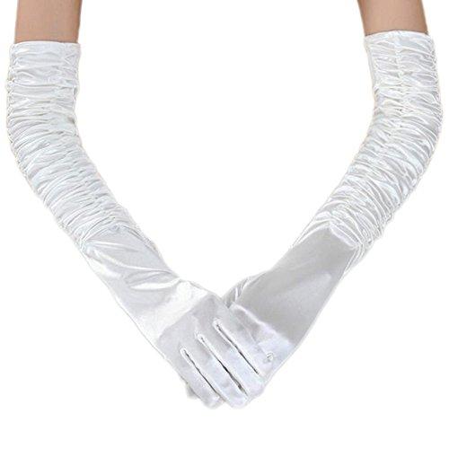 Unilove Long Opera Party 20s Satin Gloves Stretchy