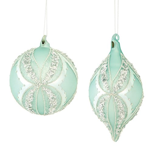 below is a great selection of mint green christmas ornaments