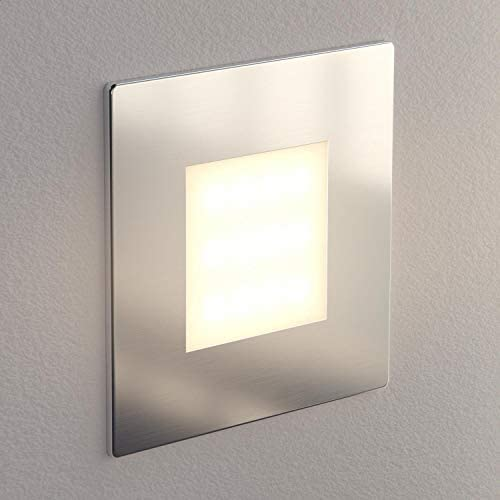 ledscom.de LED Treppen-Licht FEX Wand-Leuchte, eckig, 8,5x8,5cm, 230V, warmweiß, 15 STK.